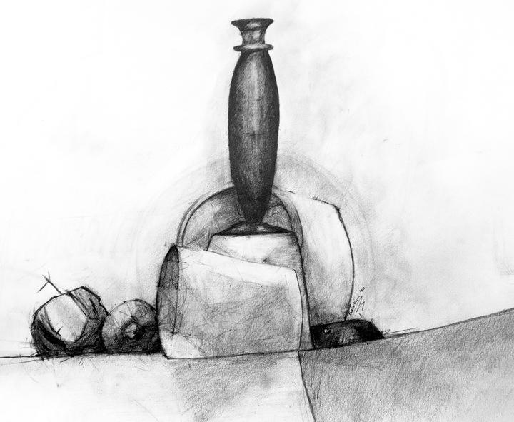 50x70 black vase