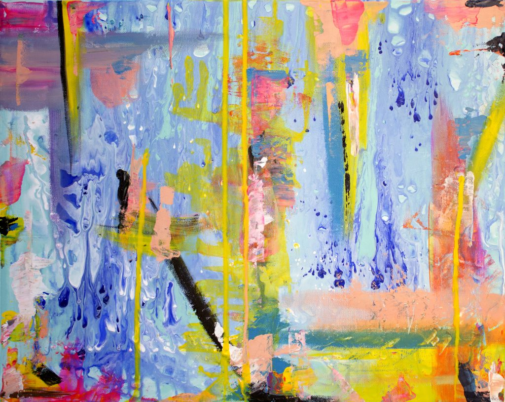 40x50 abstract happy