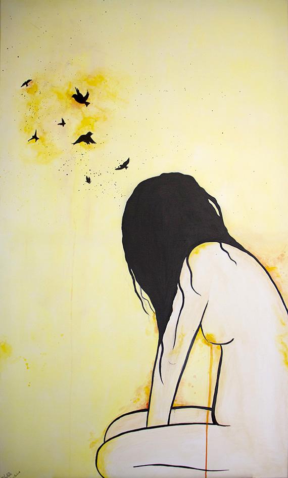 70x120 yellow figure