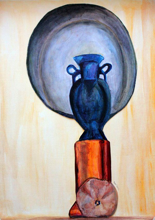 40x50 blue vase