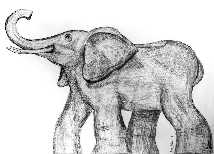 50x70 elephant